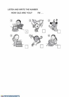 Interactive worksheet HOW OLD ARE YOU?