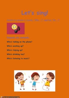 Interactive worksheet Who's at home