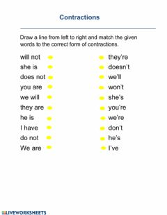 Interactive worksheet Contraction