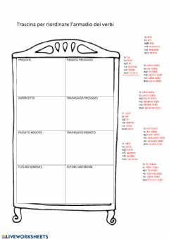 Interactive worksheet Armadio verbo essere