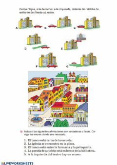 Interactive worksheet La ciudad