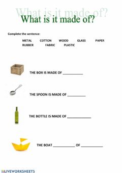 Interactive worksheet What is made of
