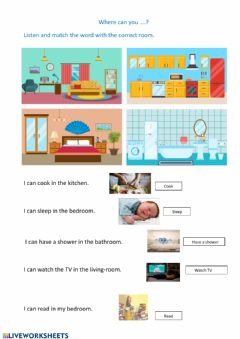 Interactive worksheet Where can you...?