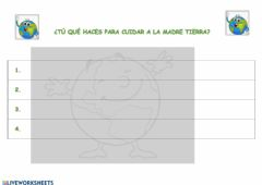Interactive worksheet Madre Tierra