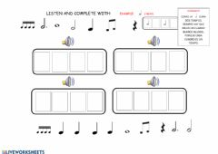 Ficha interactiva Musical dictation