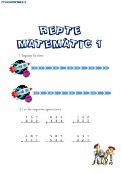 Interactive worksheet REPTE 1 MATES