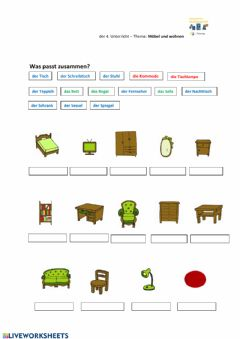 Interactive worksheet Moebel