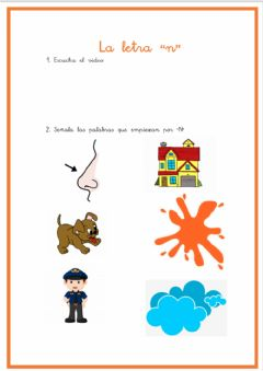 Interactive worksheet La letra -n-
