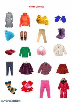 Interactive worksheet WINTER CLOTHES