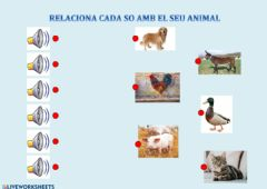 Ficha interactiva Relaciona so i animal