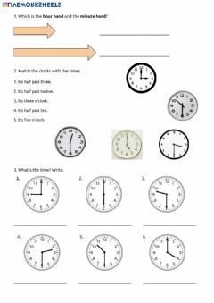 Ficha interactiva The Time to half hour.