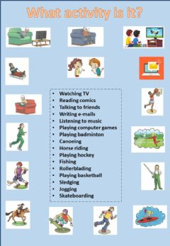 Interactive worksheet Free Time activities and sports