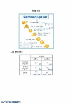 Interactive worksheet Repaso fle