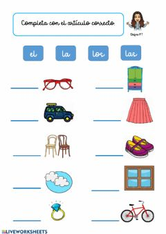Interactive worksheet Artículos determinados