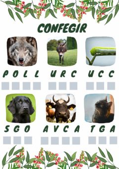 Ficha interactiva Confegir animals
