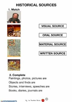 Interactive worksheet Historical sources