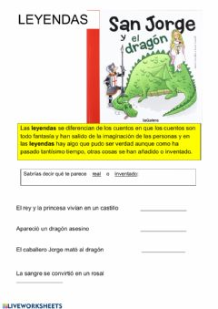 Interactive worksheet Leyendas