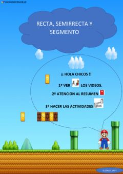 Interactive worksheet Recta, semirrecta y segmento