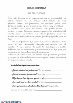 Interactive worksheet Sesión lengua