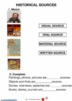 Interactive worksheet HHISTORICAL SOURCES