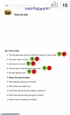 Interactive worksheet 5° 15