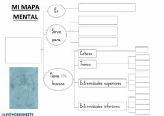Interactive worksheet Mapa mental sobre el esqueleto