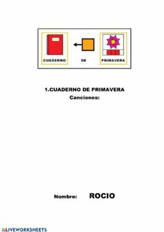 Interactive worksheet Portada Primavera