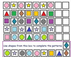 Interactive worksheet Pattern