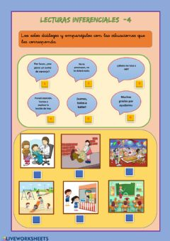 Interactive worksheet Lecturas inferenciales