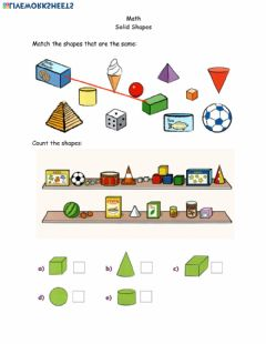 Ficha interactiva Math page 11 solid shapes