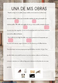 Interactive worksheet Mi obra Benito 1