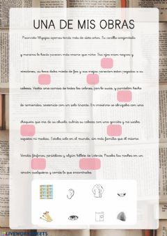 Interactive worksheet Mi obra Benito 2
