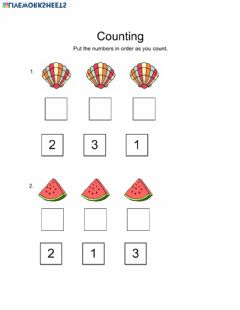 Interactive worksheet Counting 1-3