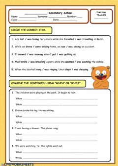 Interactive worksheet When while