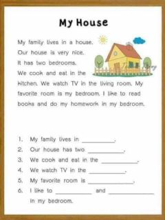 Interactive worksheet Reading comprehension for kids