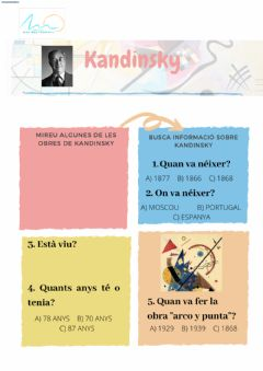 Interactive worksheet Kandisnky