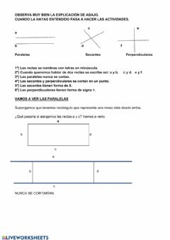 Interactive worksheet Las rectas