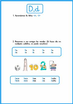 Interactive worksheet Letra -d-