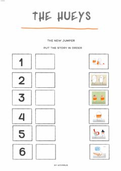 Interactive worksheet The Hueys - The new jumper