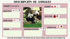 Interactive worksheet Descripción animales