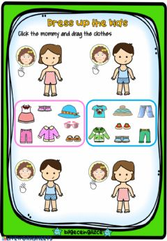Interactive worksheet Dress up the kids