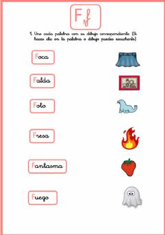 Interactive worksheet Letra -F-