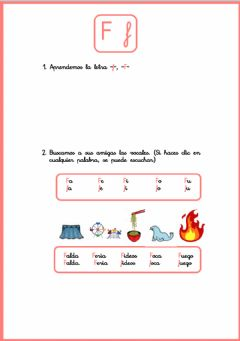 Interactive worksheet La letra -F-