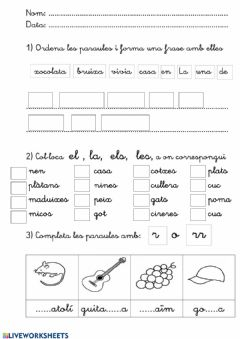 Interactive worksheet Català