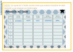 Interactive worksheet Amuebla mi casa