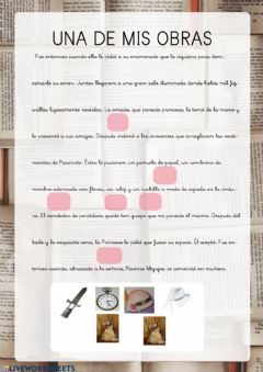 Interactive worksheet Mi obra Benito 4