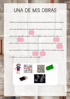 Interactive worksheet Mi obra Benito 5
