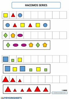 Interactive worksheet Trabajamos las series