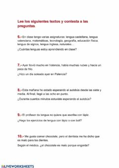Interactive worksheet Razonamiento 2