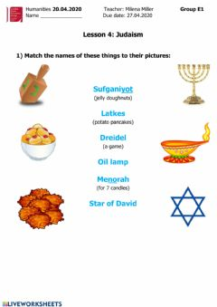 Interactive worksheet Judaism